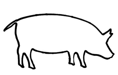 Pig Outline by Outline Of A Pig Cliparts Co
