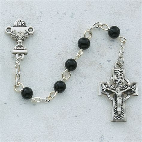 celtic cross with rosary celtic cross communion rosary
