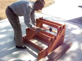 Wooden Handrails For Outdoor Steps Quick Set Up Wood Rv Steps Youtube