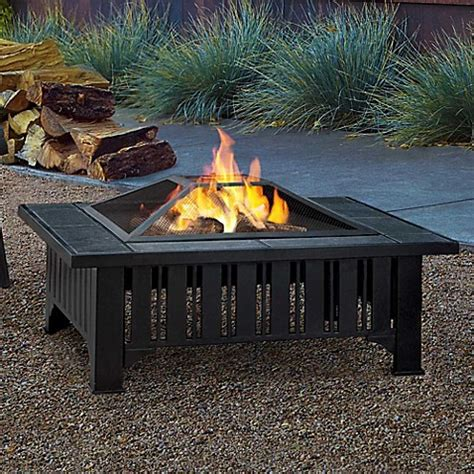 fire pit bed bath and beyond buy real flame 174 lafayette fire pit in black from bed bath