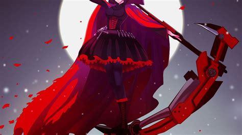 girls bangs black skies rwby ruby rwby wallpaper