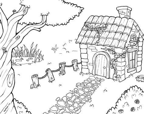 cottage house coloring page bayleejae com colouring pages cottage house drawings