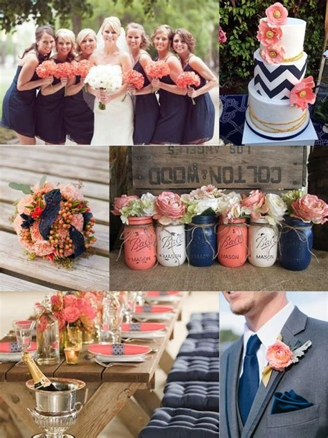 18 and navy blue inspired wedding color ideas