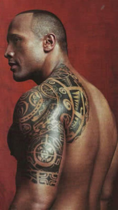 dwayne johnson tribal tattoo dwayne quot the rock quot johnson back picture at