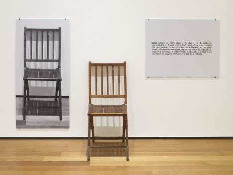 Define Chair Person by Moma Joseph Kosuth One And Three Chairs 1965