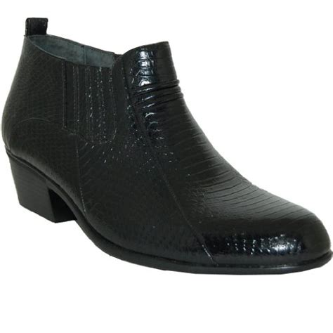 2 inch cuban heel leather line boot black size 10