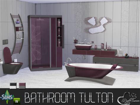 tulton bathroom recolor set   buffsumm  tsr sims  updates