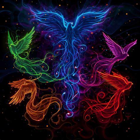 sky full of phoenix by amorphisss on deviantart