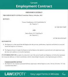Employee Contract Template Uk by Employment Contract Free Employee Agreement Form Us