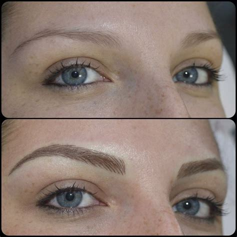 blonde tattooed eyebrows image result for microblading brows blonde microblading