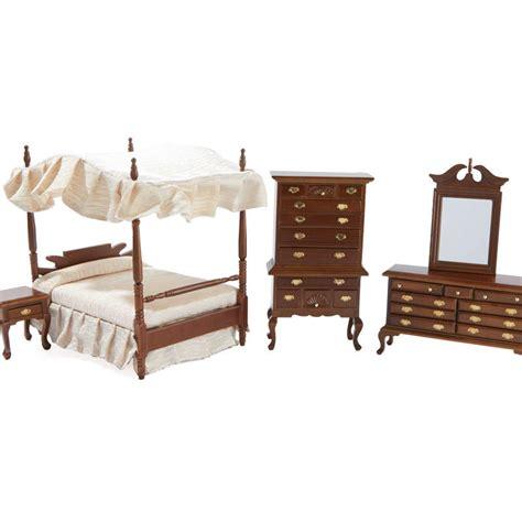 dollhouse bedroom set dollhouse miniature canopy bedroom set bedroom