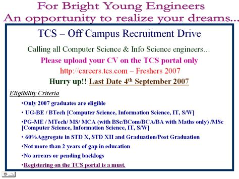Tcs Resume Format by Resumes For Freshers