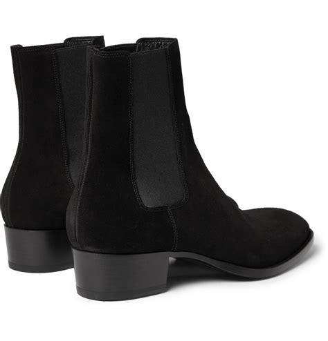 Lyst Laurent Suede Chelsea Boots In Black For