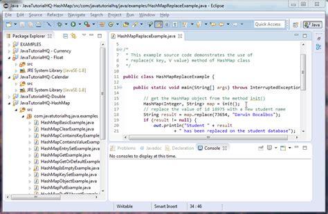 tutorial java util java hashmap replace method exle