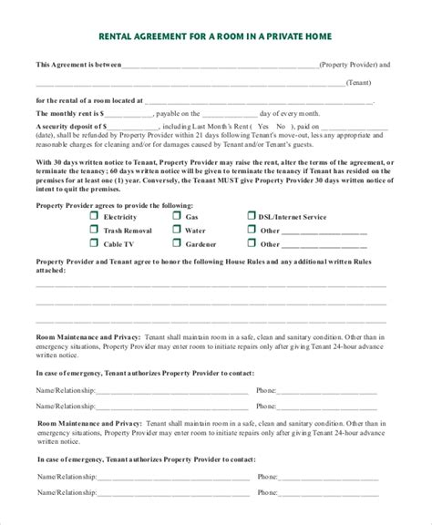 sample rental agreement letter template 8 free documents in