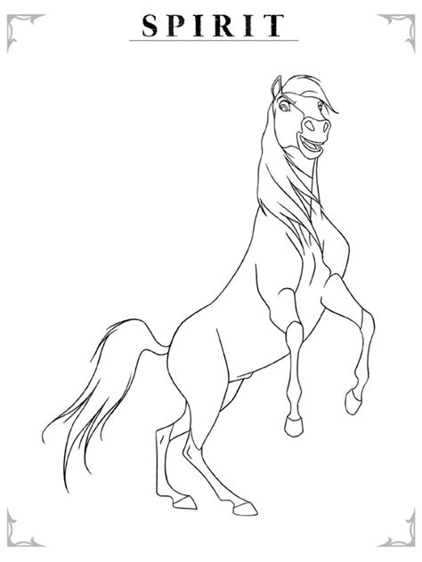 coloring pages of spirit the spirit stallion coloring pages coloringpagesabc