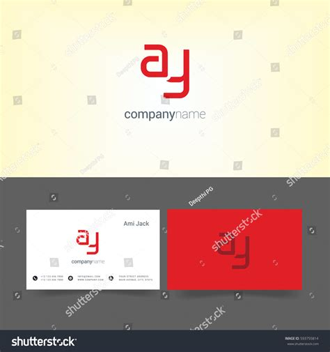 watermark business card template y letter logo business card template stock vector