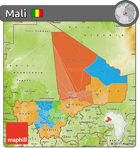 political map of mali free political map of mali physical outside