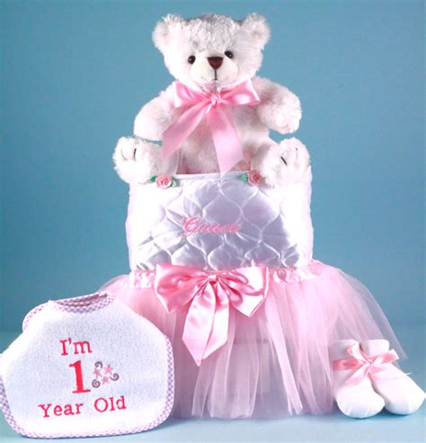 Personalized Baby Girl Gift First Birthday by by Silly Phillie