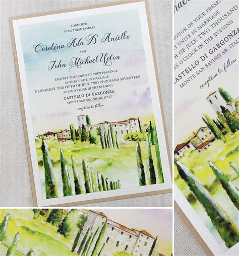 tuscan themed wedding invitations u tuscany landscape wedding invitation italy weddi and stunning laduree themed tuscany