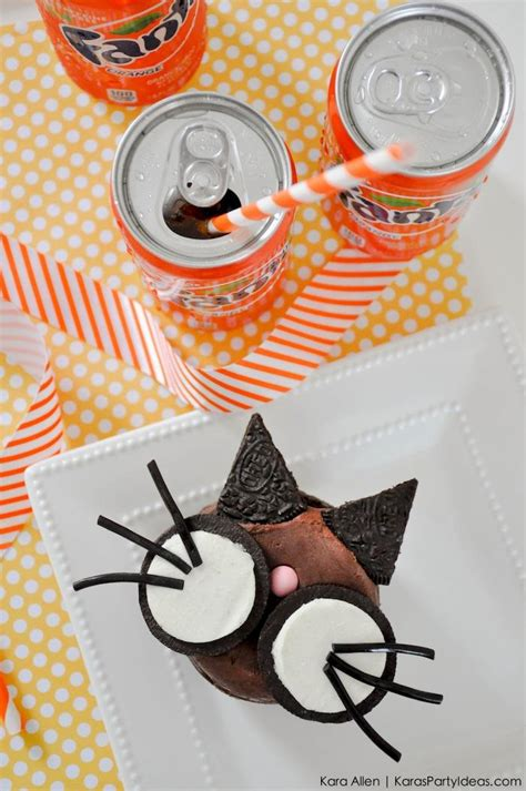 Halloween Giveaway Ideas - kara s party ideas kitty cat halloween cupcakes 550 fanta oreo prize pack giveaway