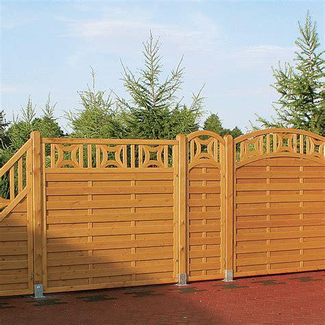 Bauhaus Sichtschutz Holz sichtschutz halbelement bern 60 x 180 190 cm mit bogen
