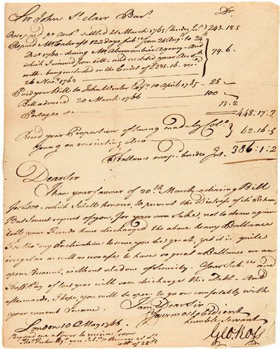 letter address format abaa letter signed from george ross to sir st 1766