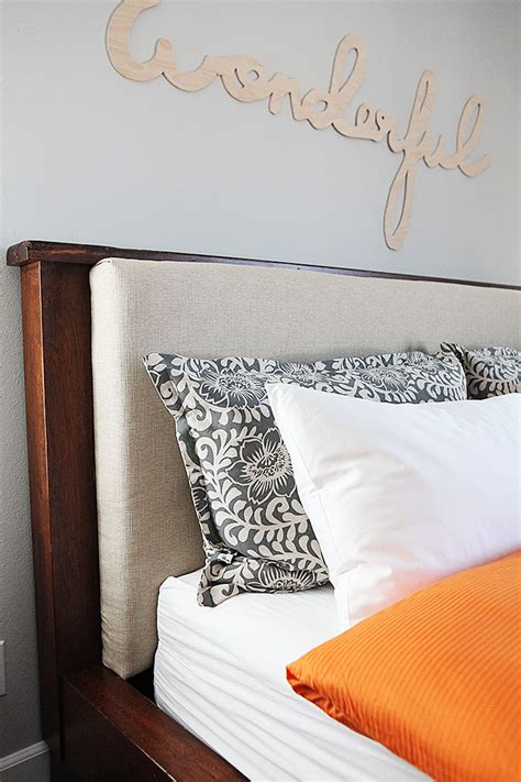 diy upholstered headboard insert pillows