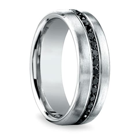 channel black s eternity band in white gold