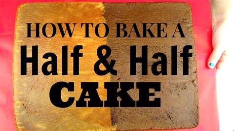 how to make a half sheet cake how to bake a half half sheet cake half chocolate half