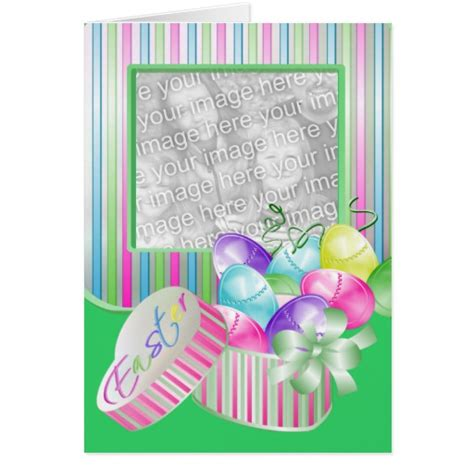 zazzle greeting card template happy easter photo template greeting card zazzle