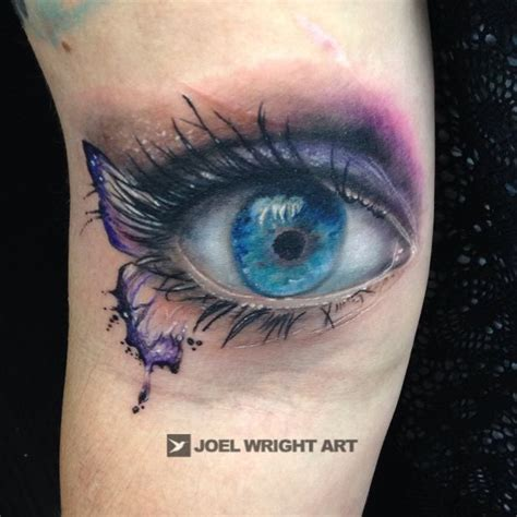 watercolor tattoo artists near me of real eye watercolor butterfly