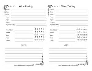 Wine Tasting Template by Wine Tasting Log Template