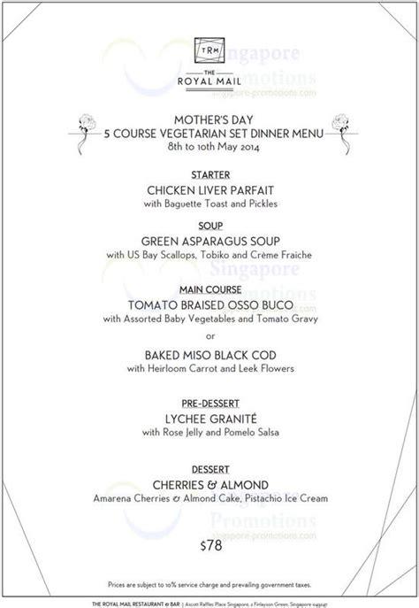 dinner menus for 10 5 course vegetarian set dinner menu 187 the royal mail