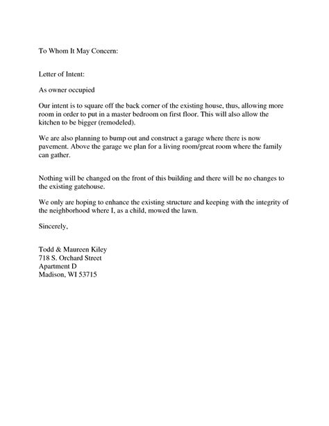 Official Letter Format To Whom It May Concern   Letter