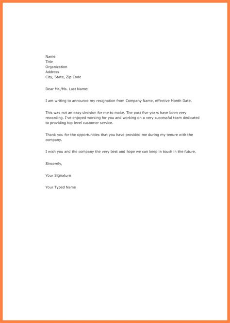 great free resignation letter sles letter format writing