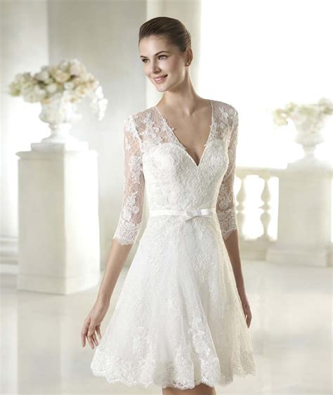 Short White Lace Wedding Dress Choice Image   Wedding Dress, Decoration And Refrence