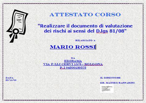 documento valutazione rischi ufficio esempio www sicurezzapratica info corso documento valutazione dei