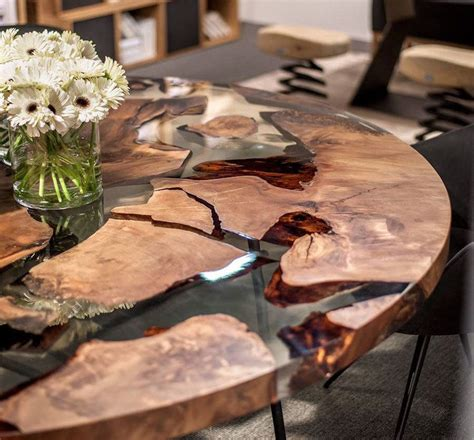 Earth Wood Resin Table Design By Renzo Matteo Piano I