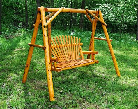 how to build a porch swing stand white cedar stained love seat swing w stand