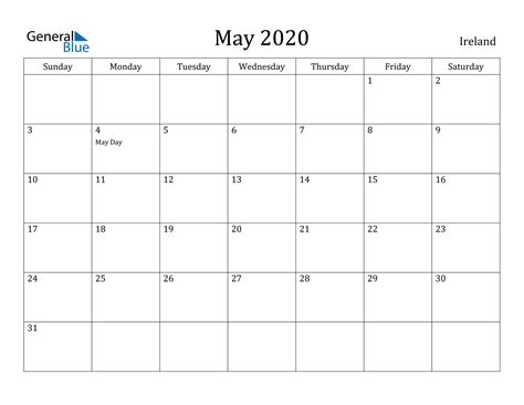 calendar ireland
