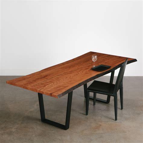 live edge cherry dining table cherry dining table elko hardwoods modern live edge