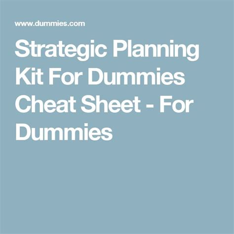 15 Best Simple Strategic Plan Template By Ex Mckinsey Consultants Images On Pinterest A Strategic Planning Template For Dummies