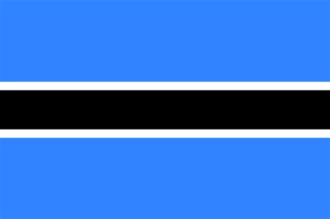 Botswana Flag2 Gif Map Of The World Colouring Page