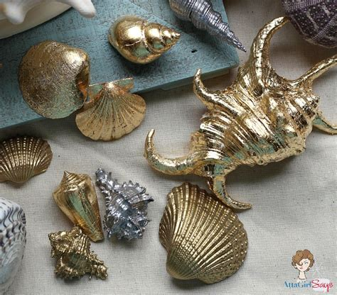 seashell craft projects gilded seashells home decor inspiration made simple