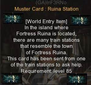Muster Card Cabal War Guild