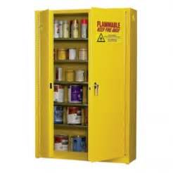 using safety cabinets to store flammable and combustible