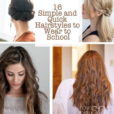quicken easy hairstyles for school 16 simple and hairstyles to wear to school how does she