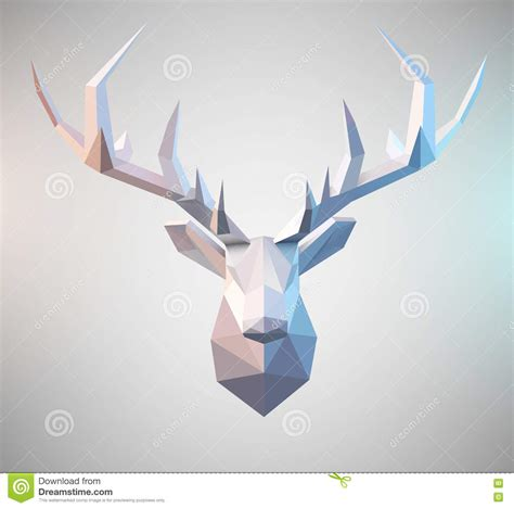 Paper Folds Graphic Design - vector polygonal stag stock vector image of clip
