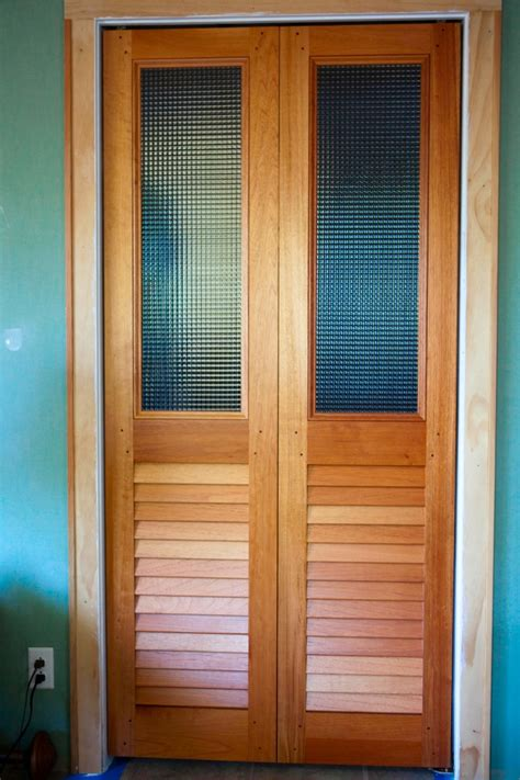 Interior Bifold Doors With Glass Inserts Custom Glass Louvered Bifold Doors